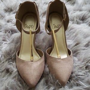 IMPO Velvet Tan Heels